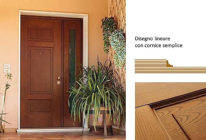 Porte Blindate Classiche Color Legno O Laccate
