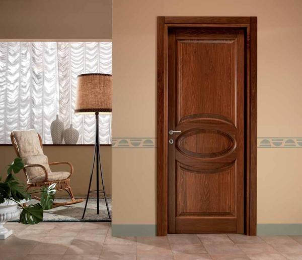 Porte interne in legno massello brescia - Mobili in castagno massello ...